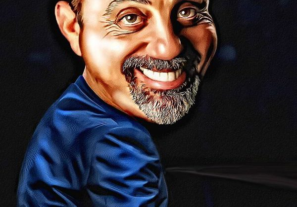 cartoon image of billy joel